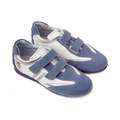 Pantofi sport piele Melania Denim-alb