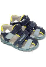 Sandale piele (22-27) Hokide Albastru