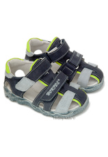 Sandale piele (22-27) Hokide Bleumarin-verde