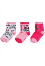 Minnie® Set 3 sosete (23-38) Roz