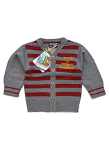 Cardigan (92-128) KSB Gri-bordo