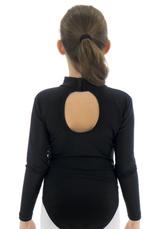 Body gimnastica & dans Negru Spandex 1602