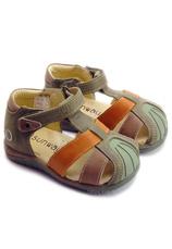 Sunway® Sandale piele Maro-Verde