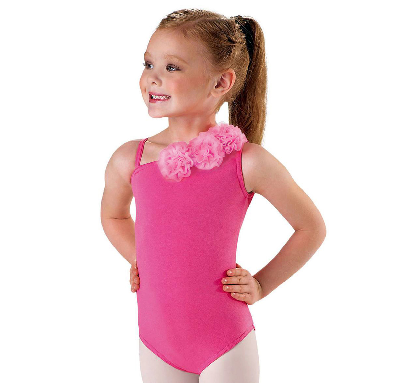 Body gimnastica & dans cu flori Ciclam 16500