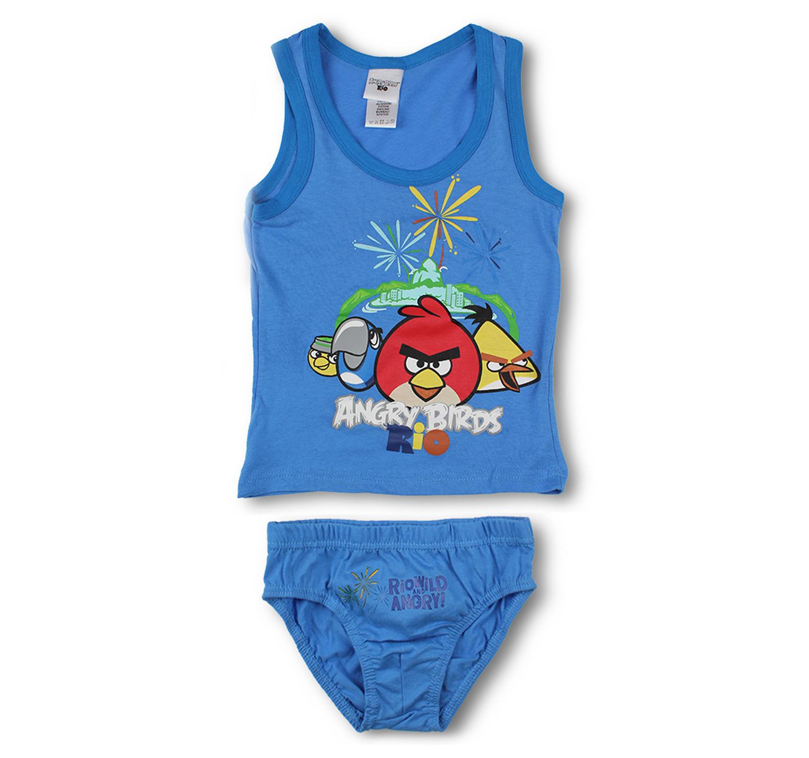 Angry Birds® Set lenjerie Albastru