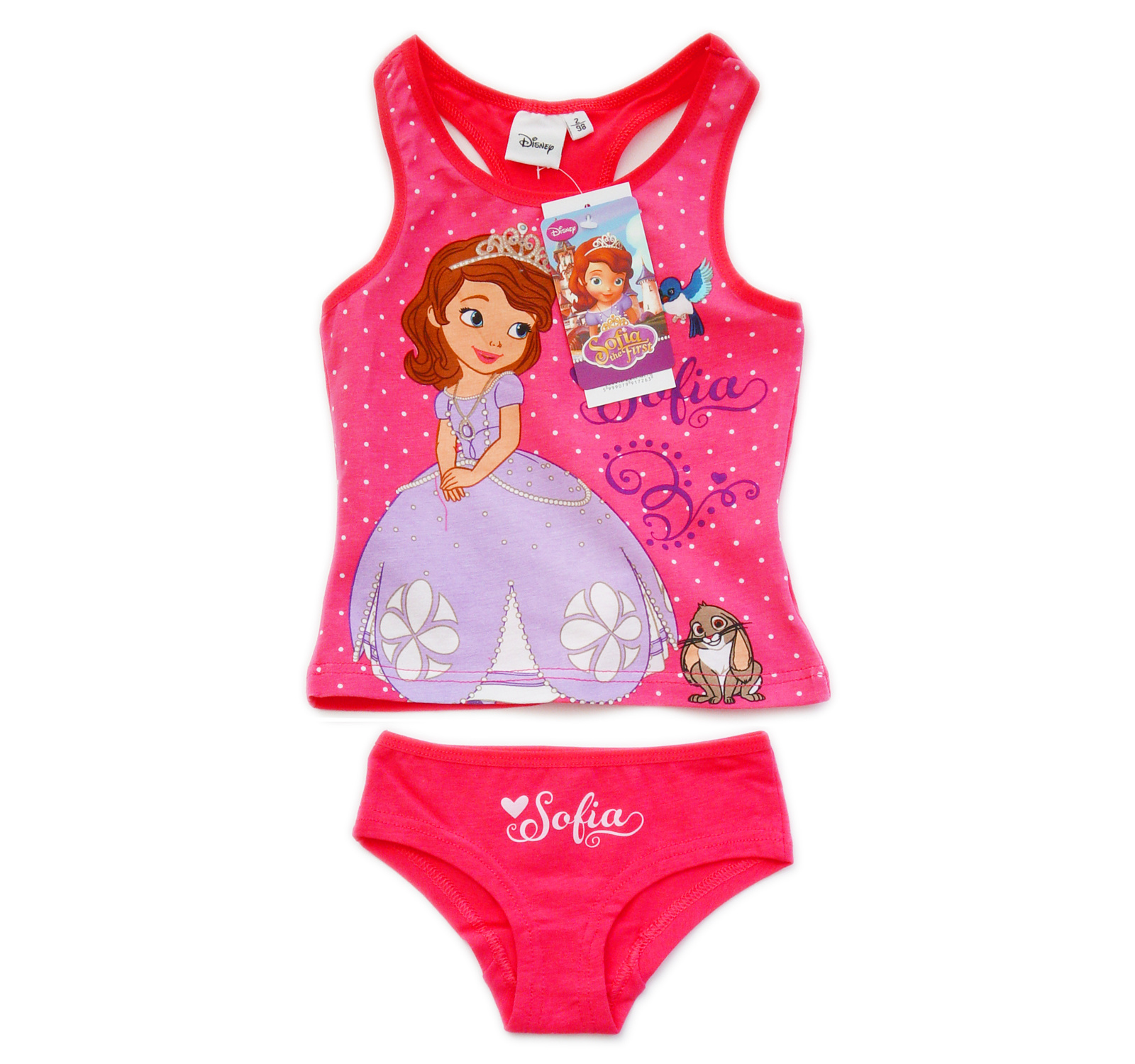 Sofia the First® Set lenjerie (98-116) Ciclam