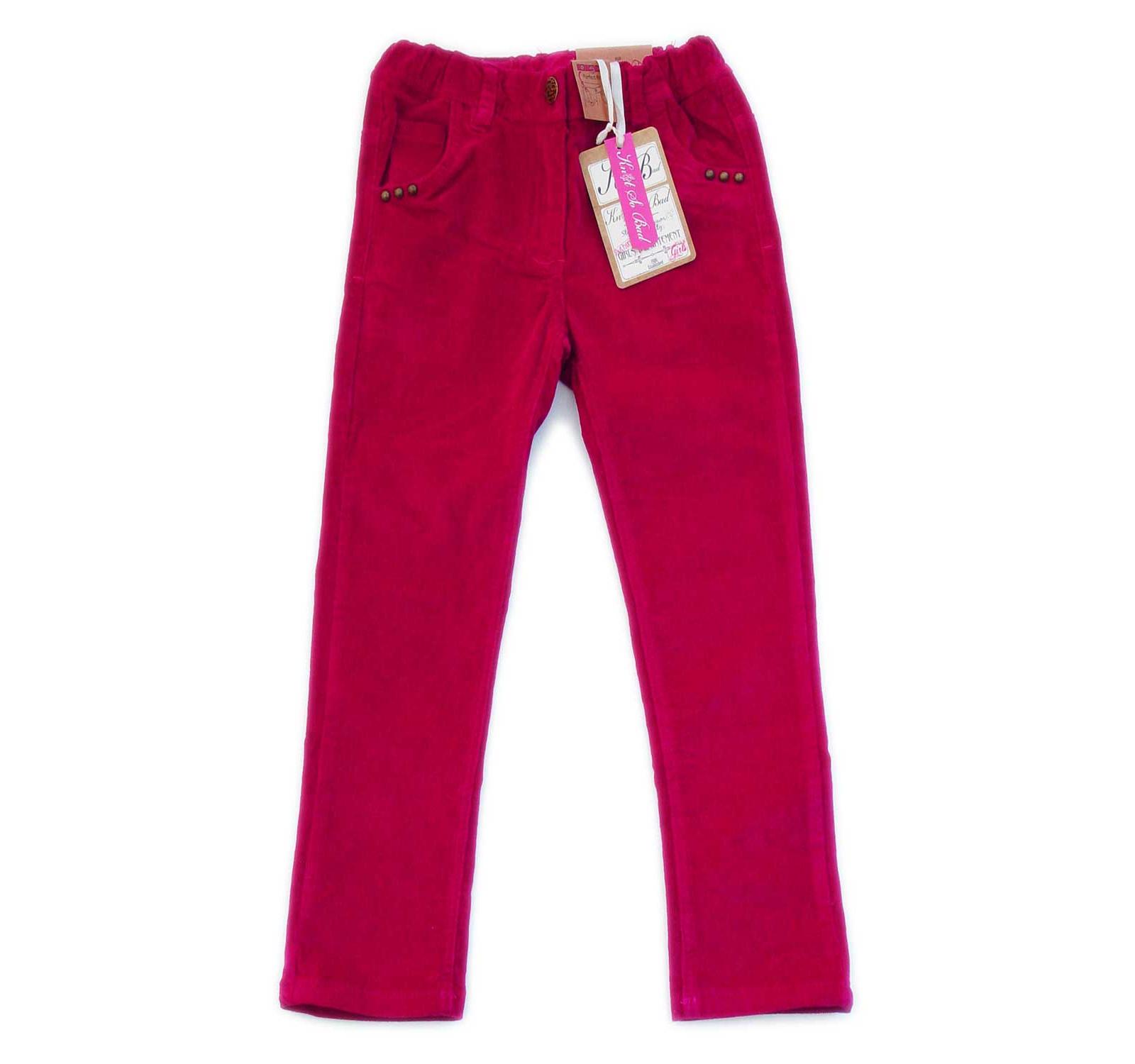 Pantaloni catifea (92-128) KSB Fuxia
