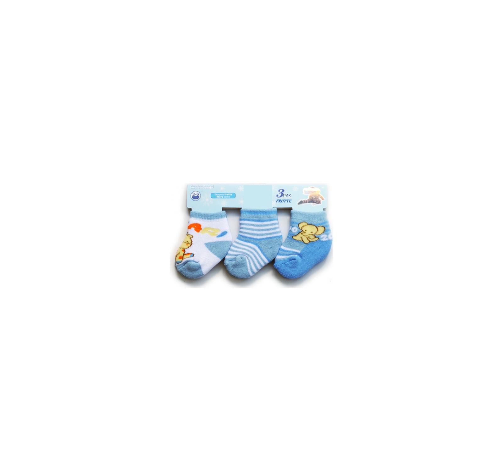 Set 3 sosete (3-9 luni) Bleu mix