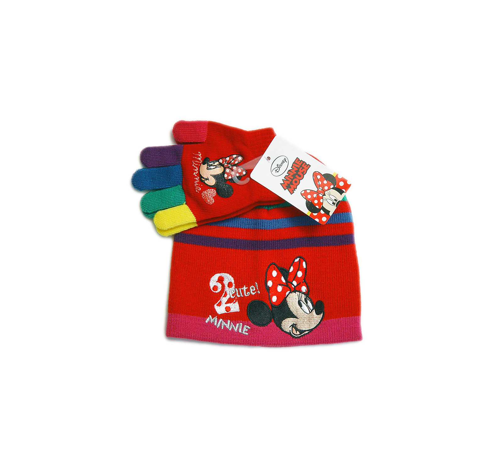 Minnie® Set Caciulita (52-54) Rosu