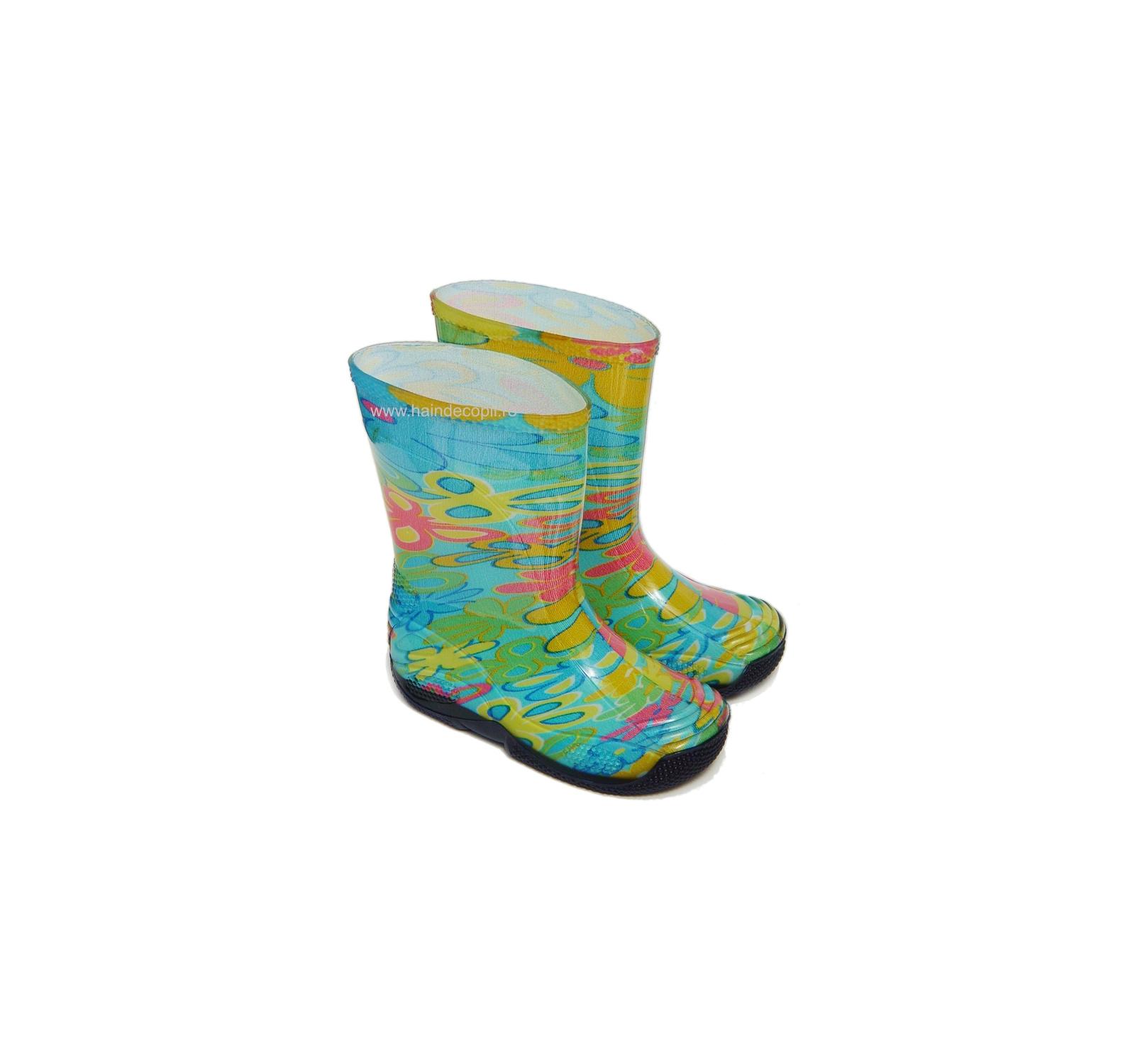 Cizme cauciuc Lupetto Dino Multicolor