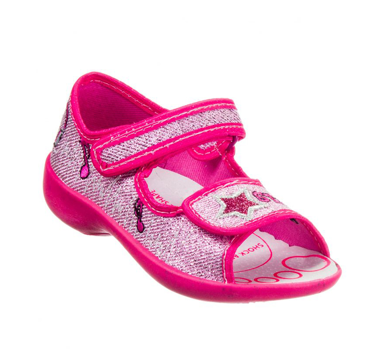 3F® Sandale Maya  Lurex Fuxia